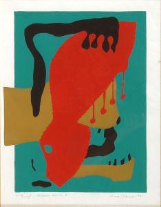 1973 Herbert Silk-screen Print By The Student Davson
