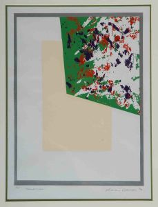 1974 Reflection Silk Screen Print On Paper