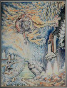 1984 Origins Of The Future Preliminiary Sketch