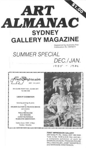 1985 - 12  Dec - Art Almanac Sydney Gallery Magazine 1240x900