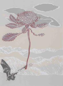 1986 91 Landscape Memories With Waratah Silk Screen Prints