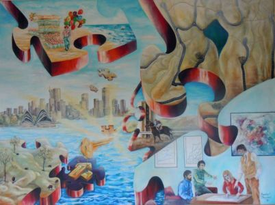 "<a href=""http://davsonarts.com/investment-in-art/investment-opportunities/""><b>1987 - 'Unlocking The Future'</b></a>"