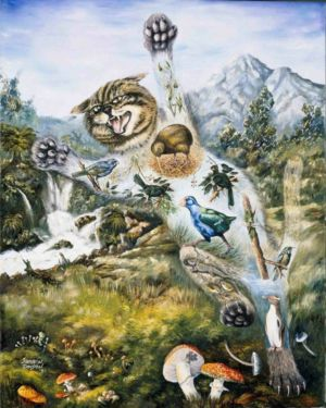 "<a href=""http://davsonarts.com/investment-in-art/investment-opportunities/""><b>1991 - 'Finding The Balance - Claws'</b></a>"