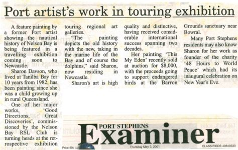 2001 - 5 May 3 - Port Stephens Examiner 1240x900