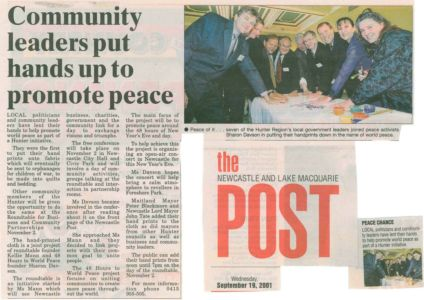 2001 - 9 Sep 19 - The Newcastle And Lake Macquarie Post 1240x900