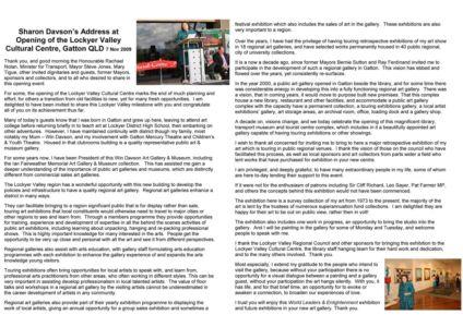 2009 - 11 Nov 7 Davson Speech