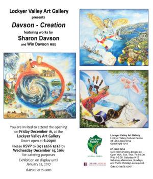 2016 - 12 - Dec - 14 - Creation- Exhibition -invitation
