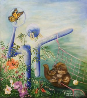 "<a href=""http://davsonarts.com/investment-in-art/investment-opportunities/""><b>'Grand Slam Dreaming - Platypus'</b></a>"