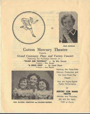 1959 - 4 Apr 6 Mercury Theatre