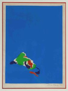 1973 Island A Silk Screen Print On Paper