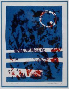 1974 San Til Silk Screen Print On Paper