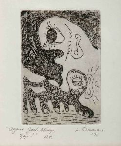 1975 Agam Jock Strap Zap Etching On Paper