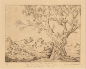 1985 The Tree Cries Etching On Rag Paper