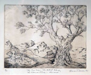 1985 The Tree Cries Mirrored Etching On Rag Paper