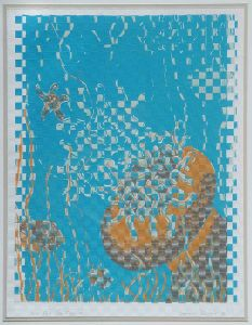 1987 89 Fish For The Living Woven Silk Screen