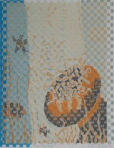 1987 89 Fish For The Fishing Woven Silk Screen Prints