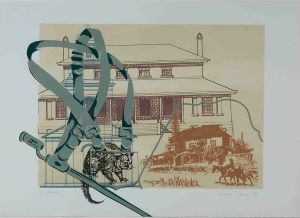 1989 Arrival Silk Screen Print On Rag Paper
