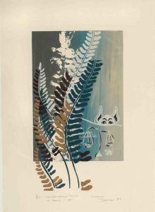 1989 Conversation With A Fern Silk Screen Print On Rag Paper