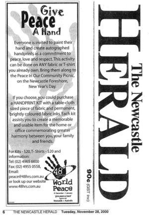 2000 - 11 Nov 28 - The Newcastle Herald P2 1240x900
