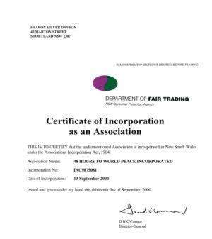 2000 - 9 Sep 13 - Cert Of Incorporation As An Association 1240x900