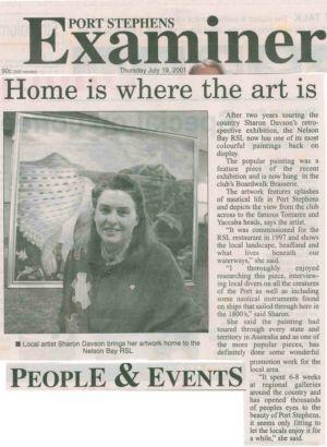 2001 - 7 Jul 19 - Port Stephens Examiner 1240x900
