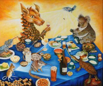 """<a href=""""https://davsonarts.com/investment-in-art/investment-opportunities/""""><b>'Celebrations'</b></a>"""